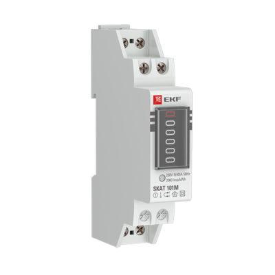 Счетчик электрической энергии модульный SKAT 101М/1 - 5(40) Ш Р M EKF; 10105M