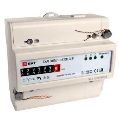 Счетчик электрической энергии СКАТ 301М/1 - 10(100) Ш Р EKF PROxima; 30104P