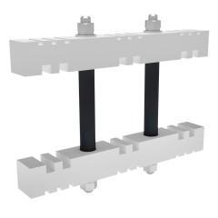 Шинодержатель 3Р промежуточный для шин 5/10 мм EKF AVERES