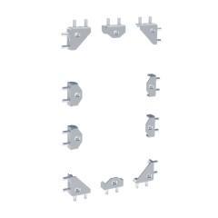 Комплект запасных аксессуаров для соединения каркасов и монтажа боковых и задних панелей EKF AVERES