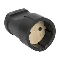Гнездо штепсельное б/з черн. ПВХ 10A 250B EKF PROxima