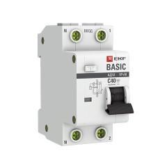 Дифференциальный автомат 1P+N 40А 30мА тип АС х-ка C эл. 4