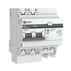 Дифференциальный автомат АД-2 40А/100мА (хар. C