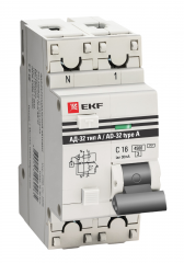 Дифференциальный автомат АД-32 1P+N 16А/30мА (тип А) EKF PROxima