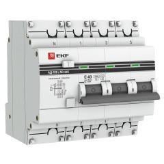 Дифференциальный автомат АД-32 (селективный) 3P+N 25А/300мА EKF PROxima