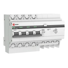 Дифференциальный автомат АД-4  6А/ 30мА (хар. C