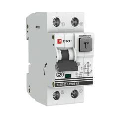 Дифференциальный автомат АВДТ-63 20А/ 30мА (хар-ка C