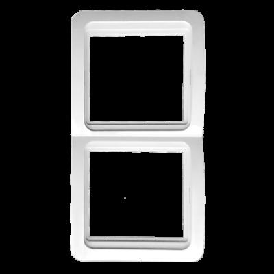 Лондон Рамка 2-местная вертикальная белая EKF PROxima; EEM-V-302-10