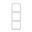 Лондон Рамка 3-местная вертикальная белая EKF PROxima; EEM-V-303-10