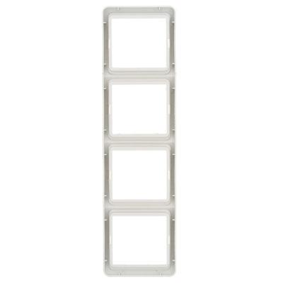 Лондон Рамка 4-местная вертикальная белая EKF PROxima; EEM-V-304-10