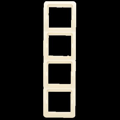 Лондон Рамка 4-местная вертикальная бежевая EKF PROxima; EEM-V-304-20