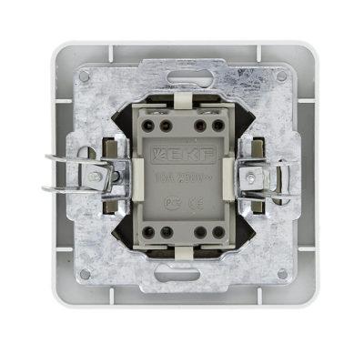 Лондон Выключатель 2-клавишный 10А белый EKF PROxima; EEV10-023-10