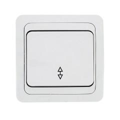Лондон Выключатель проходной 1-клавишный 10А белый EKF PROxima