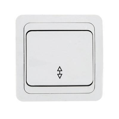 Лондон Выключатель проходной 1-клавишный 10А белый EKF PROxima; EEV10-025-10