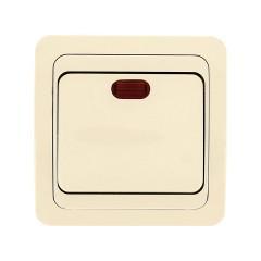 Лондон Выключатель 1-клавишный с индикатором 10А бежевый EKF PROxima