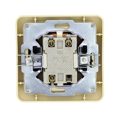 Лондон Выключатель 2-клавишный с индикатором 10А бежевый EKF PROxima; EEV10-123-20