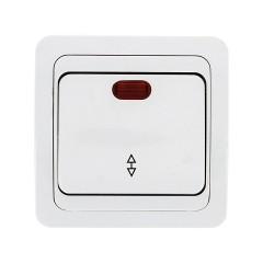 Лондон Выключатель проходной 1-клавишный с индикатором 10А белый EKF PROxima