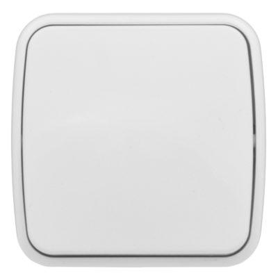 Минск Выключатель 1-клавишный ОП 10А белый  EKF Basic; EGV10-021-10