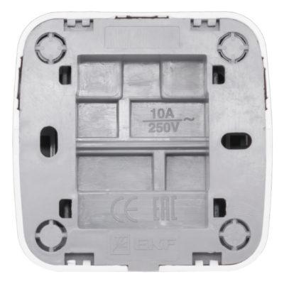 Минск Выключатель 2-клавишный ОП 10А белый  EKF Basic; EGV10-023-10