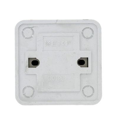 Рим Выключатель 2-клавишный с индикатором 10А белый EKF; ENV10-123-10