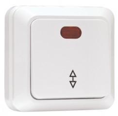 Рим Выключатель проходной 1-клавишный с индикатором 10А белый EKF