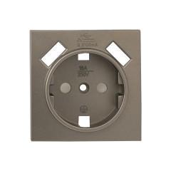 Валенсия лицевая панель розетки 1-местной с/з 16А кашемир с защ. штор. с 2 USB 2