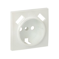 Валенсия лицевая панель розетки 1-местной с/з 16А жемчуг с защ. штор. с 2 USB 2