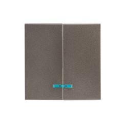 Валенсия лицевая панель выключателя 2-кл. с индикатором 10А графит EKF PROxima