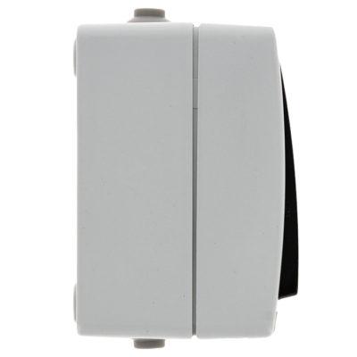 Венеция Выключатель кнопочный 10А IP54 серый EKF; EVV10-045-30-54