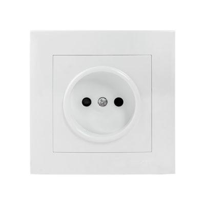 Валенсия розетка 1-местная б/з 10А белая с защ. штор. EKF PROxima; EWR10-022-10