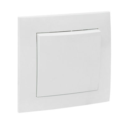 Валенсия выключатель 1-кл. 10А белый EKF PROxima; EWV10-021-10