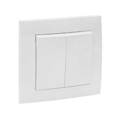 Валенсия выключатель 2-кл. 10А белый EKF PROxima; EWV10-023-10