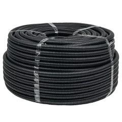 Труба гофр. FRHF  с зондом d50мм (20м.) черная Plast EKF PROxima