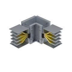 Угловая вертикальная секция 400 А IP55 3L+N+PE(КОРПУС)