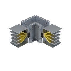 Угловая вертикальная секция 3200 А IP55 AL 3L+N+PE(КОРПУС)