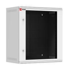 Шкаф телекоммуникационный настенный 12U (600х350) дверь стекло