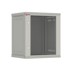 Шкаф телекоммуникационный настенный разборный 12U (600х450) дверь стекло