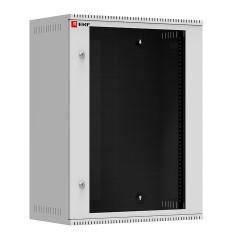 Шкаф телекоммуникационный настенный 15U (600х350) дверь стекло