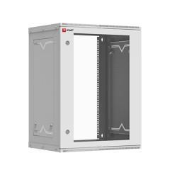 Шкаф телекоммуникационный настенный разборный 15U (600х450) дверь стекло