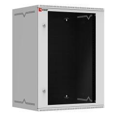 Шкаф телекоммуникационный настенный 15U (600х450) дверь стекло