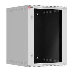 Шкаф телекоммуникационный настенный 15U (600х650) дверь стекло