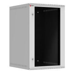 Шкаф телекоммуникационный настенный 18U (600х350) дверь стекло
