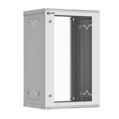 Шкаф телекоммуникационный настенный разборный 18U (600х450) дверь стекло