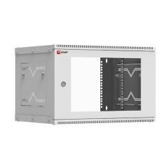 Шкаф телекоммуникационный настенный разборный 6U (600х350) дверь стекло