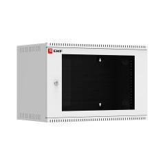 Шкаф телекоммуникационный настенный 6U (600х350) дверь стекло