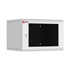 Шкаф телекоммуникационный настенный 6U (600х450) дверь стекло