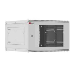 Шкаф телекоммуникационный настенный разборный 6U (600х650) дверь стекло