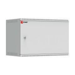 Шкаф телекоммуникационный настенный 6U (600х350) дверь металл