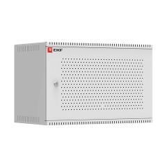 Шкаф телекоммуникационный настенный 6U (600х350) дверь перфорированная
