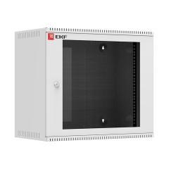Шкаф телекоммуникационный настенный 9U (600х350) дверь стекло